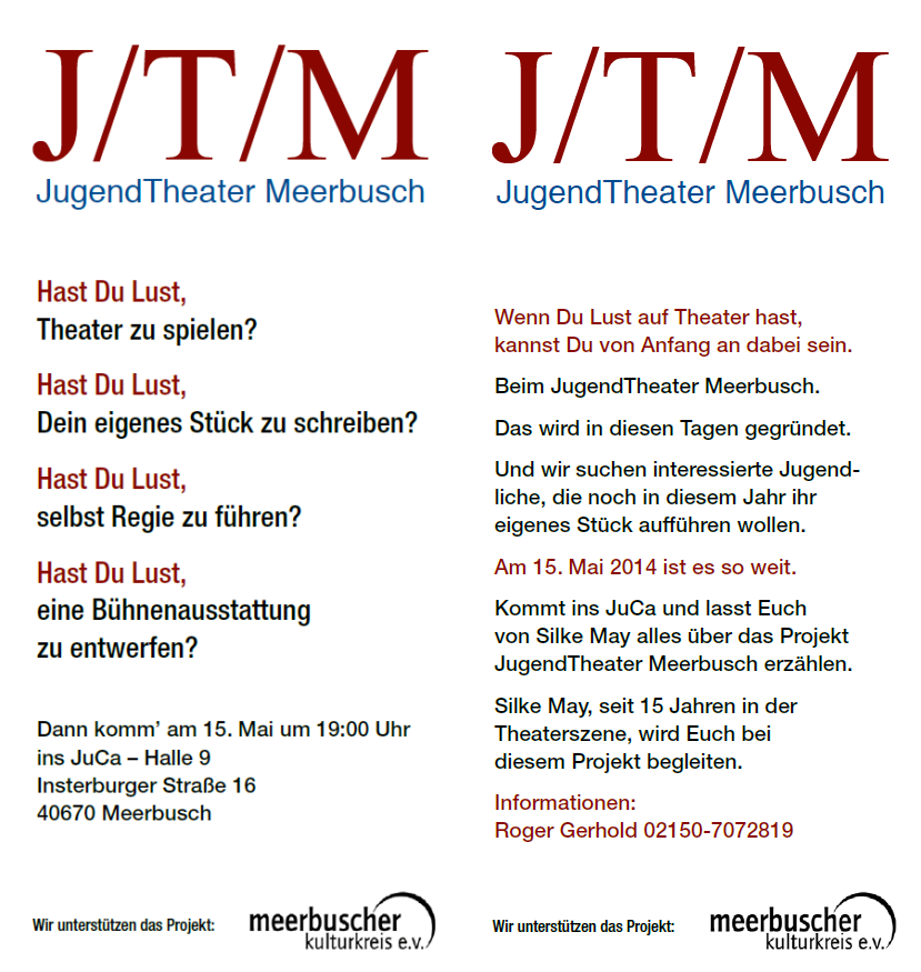Flyer Jugendtheater