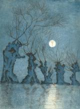Weiden bei Mondlicht